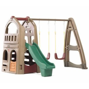 Naturally Playful Playhouse Climber & Swing